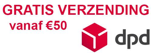 Gratis verzending vanaf € 50,00 euro